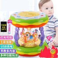 【支持礼品卡】宝宝音乐手拍鼓儿童拍拍鼓可充电早教益智1岁0-6-12个月婴儿玩具3 j6i
