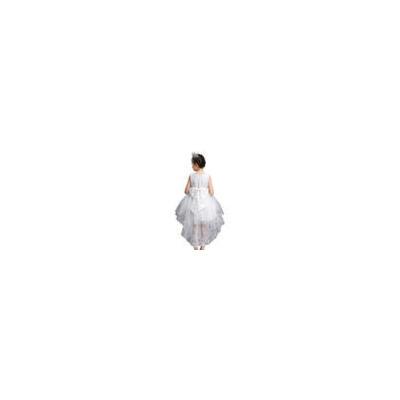 公主裙女童晚礼服拖尾婚纱裙花童走秀夏季背心连衣裙子儿童演出服