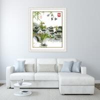 家和万事兴十字绣新款中国风江南水乡风景客厅卧室温馨小挂件 生态棉11ct 3股印布