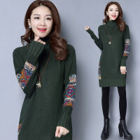 中长款毛衣女套头韩版新款半高领秋冬宽松显瘦打底针织羊绒衫