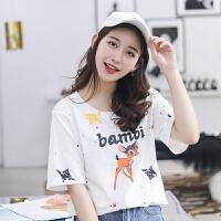 纯棉短袖T恤女2018夏季新款t恤韩版宽松时尚潮流T恤女上衣
