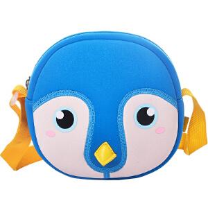 新品蓝色企鹅幼儿园小背包1-3-6岁儿童防走失可爱卡通小挎包