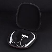 耳机包适用于森海耳机收纳包木馒头挂脖式蓝牙耳机收纳盒抗压保护包 黑色木馒头耳机包
