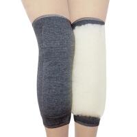 冬季羊毛护膝盖保暖老寒腿男女老人加绒加厚羊绒防寒漆关节保护套