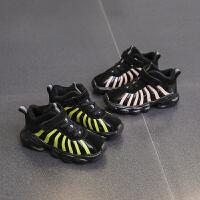 儿童加绒运动鞋男童秋冬款皮面鞋子休闲冬季童鞋