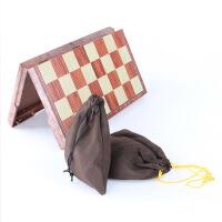 可折叠带磁性实木塑国际象棋儿童成人高档特大号国际象棋磁力棋