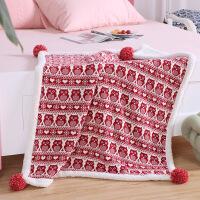 家纺冬季婴儿毛毯盖毯小毛毯盖腿加厚卡通羊羔绒毯子针织毯厚 80x100cm
