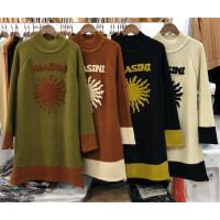 T3秋冬新款韩版字母太阳半高领 毛衣女针织打底衫长袖套头加厚0.5