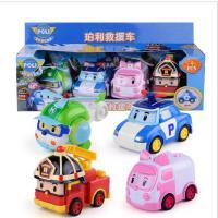 正版珀利惯性玩具车 仿真Q版警车消防汽车模型 儿童玩具车套装