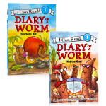 I can read系列 蚯蚓日记2册Diary of a Worm: Teacher's Pet/Nat the G
