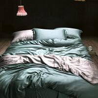 夏季欧式天丝四件套1.8m夏天床单被套欧美风床上用品冰丝凉滑