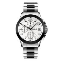男士手表防水个性时尚石英手表潮流商务六针钢带复古腕表