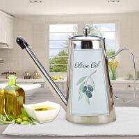 仁品欧式304不锈钢油壶防漏小油瓶控油油罐食用油调味瓶厨房用品