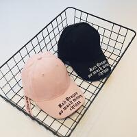 男童帽子2018春季新款字母刺绣太阳帽儿童韩版帅气棒球帽鸭舌帽潮