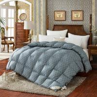 家纺丹麦 柔赛丝羽绒被95白鹅绒被加厚保暖90冬被双人羽绒冬被子