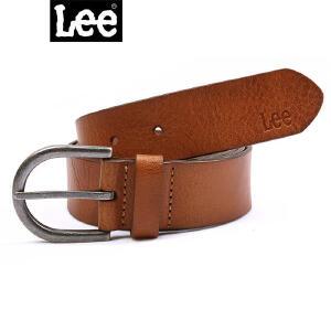 Lee配饰 商场同款 秋冬新款时尚牛皮棕色皮带男L16187L012YN真皮带