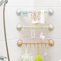 浴室厨房双吸盘六连挂钩真空吸盘门后挂钩无痕免钉多用承重挂钩