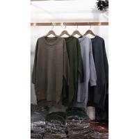 H4秋冬新毛衣女套头加厚宽松纯色学生韩版长袖百搭打底针织衫0.56