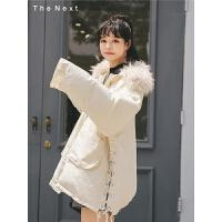 毛领短款羽绒服2019冬季新款女装学生白鸭绒韩版时尚宽松百搭外套