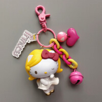 韩国创意HelloKitty凯蒂猫钥匙扣包包女挂件汽车钥匙链可爱礼物