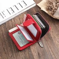 防盗刷风琴卡包女驾驶证套多卡行驶证皮套钱包男士多功能一体包
