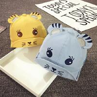婴儿帽子6-个月春秋男童鸭舌帽薄款夏季遮阳帽女宝宝帽子韩版潮
