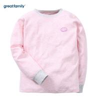 歌瑞家童装圆领长袖上衣粉色2017冬新款中大童女宝宝家居上装乐友