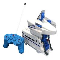 遥控变形男孩儿童变形带遥控和谐号 玩具火车变形和谐号列车 遥控器会变形和谐号