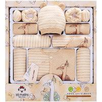 班杰威尔 彩棉婴儿衣服新生儿礼盒 秋冬季加厚初生满月宝宝衣服套装母婴用品 加厚孔雀款