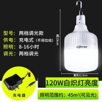 停电户外充电夜市地摊LED应急摆摊加亮便携家用照明节能充电灯泡 五档款 (8-25小时)120瓦