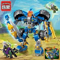 积木城堡未来骑士团机器人模型启蒙拼装我的世界玩具
