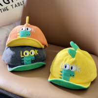 婴儿帽子秋冬男童女宝宝帽子鸭舌帽婴幼儿可爱萌棒球帽