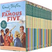【首页抢券300-100】The Famous Five Treasury 1-21 Box Set 五伙伴历险记 21