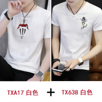 夏季男士圆领短袖t恤韩版2018新款修身半截袖体恤夏装上衣服