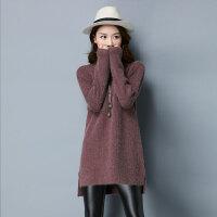 秋冬新款韩版纯色山羊绒打底毛衣女加厚保暖高领百搭女士针织衫