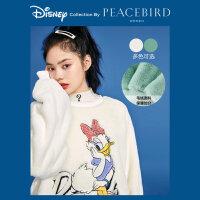 #【迪士尼联名】太平鸟唐老鸭套头宽松毛毛卫衣女2019新款女上衣