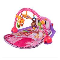 新生儿带遥控音乐脚踏钢琴婴儿健身架器游戏音乐毯宝宝健身架玩具 脚踏钢琴健身架