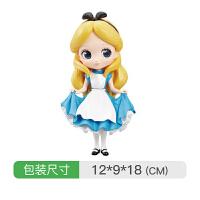 Qposket公仔迪士尼公主摆件人偶收藏模型女孩手办玩具 36693-A 爱丽丝普通色 均码