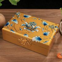 木质结婚牡丹饰品盒新娘平遥推光漆器首饰盒收纳礼品