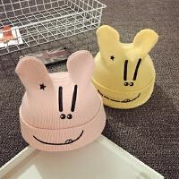 儿童毛线帽秋冬套头针织帽男女宝宝帽子1-2岁护耳婴儿帽0-3-6个月