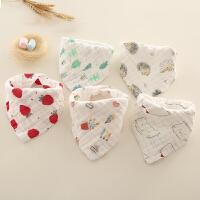 口水巾围兜婴儿宝宝围嘴纱布三角巾