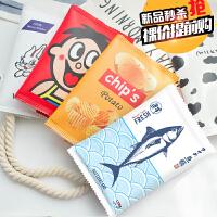 小清新创意零食笔袋 初中男女学生简约文具盒韩国可爱大容量铅笔袋