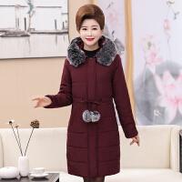 中老年棉衣女冬装中长款加厚2017新款中年女士棉袄妈妈装外套