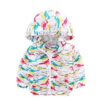 女童冲锋衣 春秋1岁2小童连帽上衣洋气儿童春装3-4女宝宝春款外套