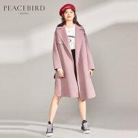 PEACEBIRD/太平鸟斯文双面呢大衣