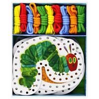【预订】The Very Hungry Caterpillar・Lacing card艾瑞・卡尔好饿的毛毛虫 编织卡片 英文儿童游戏卡片