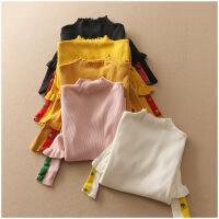 冬季修身半高领打底衫长袖保暖套头针织衫女A24-3-10995