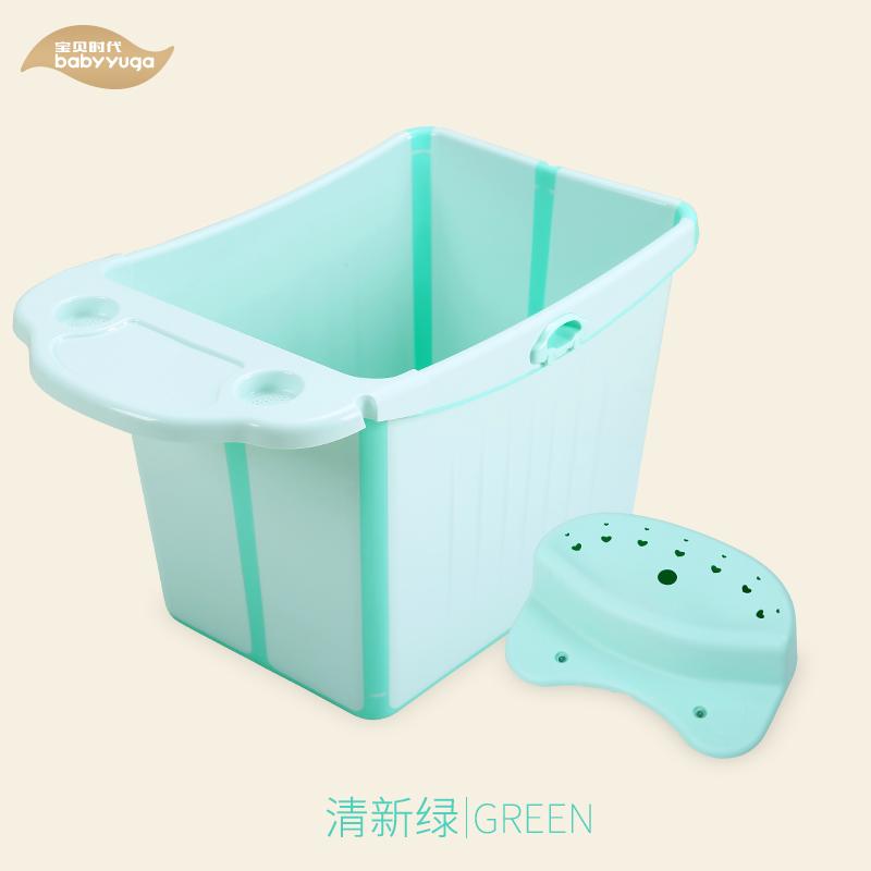 婴儿洗澡盆二合一沐浴盆宝宝婴幼儿童加厚洗浴用品 冰激凌绿 折叠浴桶绿色 发货周期:一般在付款后2-90天左右发货,具体发货时间请以与客服协商的时间为准