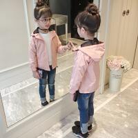 童装女童春装外套儿童冲锋衣风衣小女孩夹克上衣潮衣