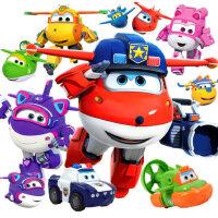奥迪双钻超级飞侠玩具套装全套7大号小爱乐迪雪儿变形机器人男孩8